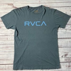 RVCA Blue Logo Tee